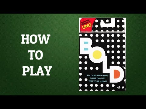 How To Play Bold Card Game (Makers Of Uno)