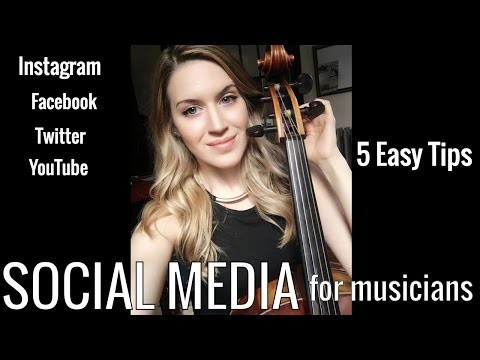 5 Social Media Tips for Musicians/Artists - Social Media Marketing, How to get more followers