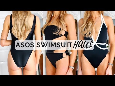 ASOS SWIMWEAR HAUL/TRY ON | High Waist & Low Back Swimsuits