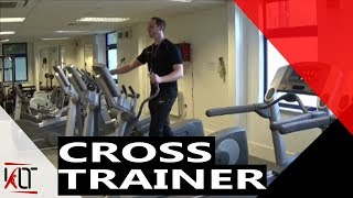 How to use the cross trainer CV machine