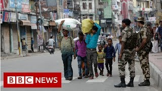 Kashmir in lockdown after autonomy scrapped - BBC News