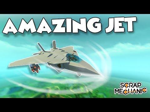 BREAKING THE SPUD BARRIER!?! BEST JET EVER! - Scrap Mechanic Creations! - Episode 140