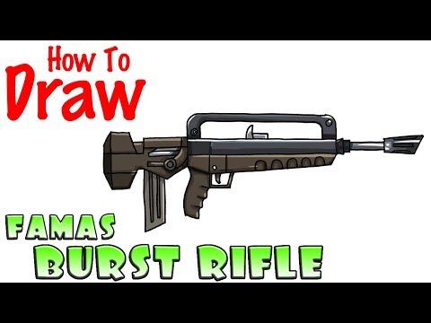 How To Draw Famas Burst Rifle Fortnite Playingitnow All