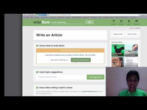 how to write an article in wikihow [ HD 720 ]