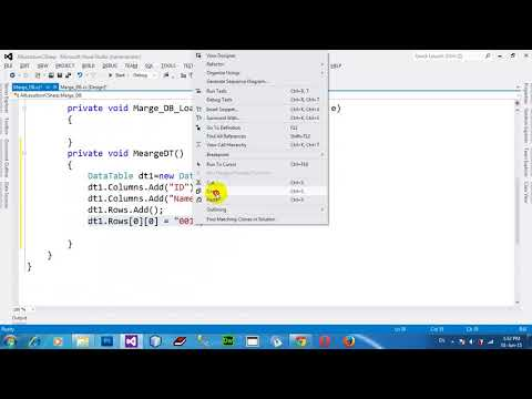 How to Merge one datatable into another datatable in C# NET 2012