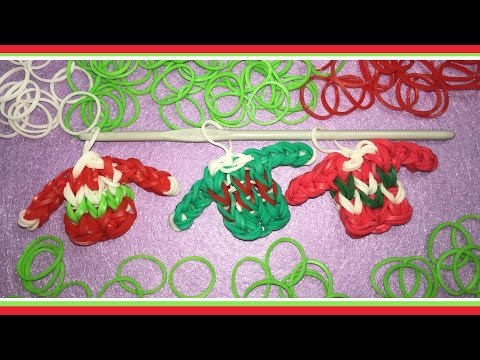 Rainbow Loom Charm for Christmas | Loomless Ugly Christmas Sweater Tutorial