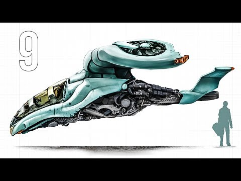 CGC Classic: Modeling a Sci-fi Gyrocopter Pt. 9 (Blender 2.6)