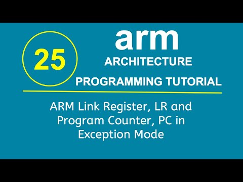 ARM Programming Tutorial 26- ARM Link Register, LR and Program Counter, PC in Exception Mode