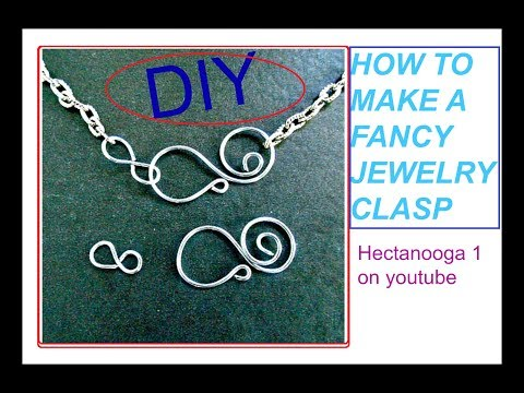 how to make fancy wire clasps, jewelry making for bracelets or necklaces #1453