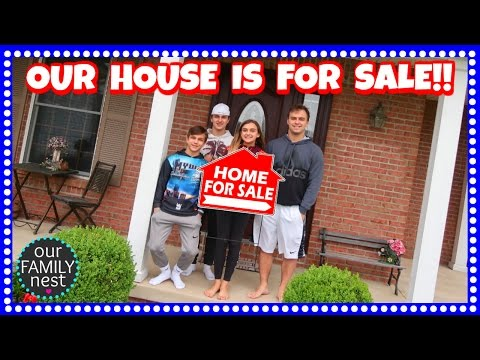 IT'S OFFICIAL! OUR HOUSE IS FOR SALE!