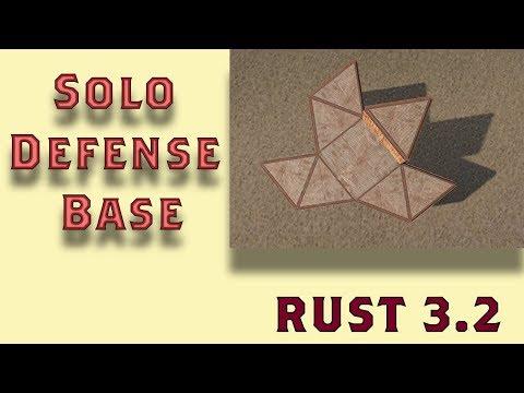 Rust Solo Base Design I Defensive Base I Rust Build 3.2 I