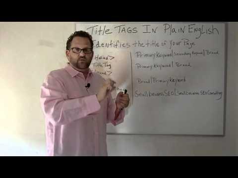 SEO Title Tag- HTML Title Tags Explained In Plain English