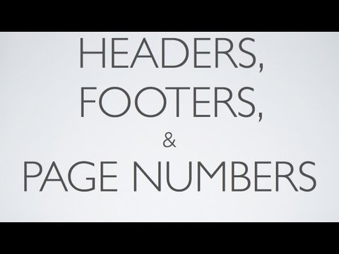 iPad 3 Pages Tutorial: Headers, Footers, & Pages Numbers P7 iPad 2 1