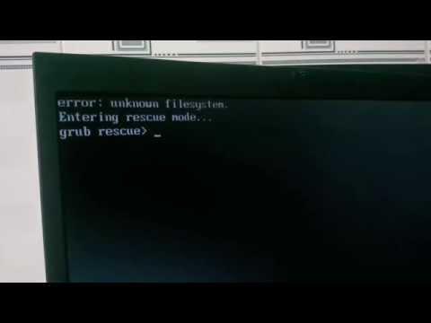 Fix unknown filesystem Grub rescue Ubuntu, Windows
