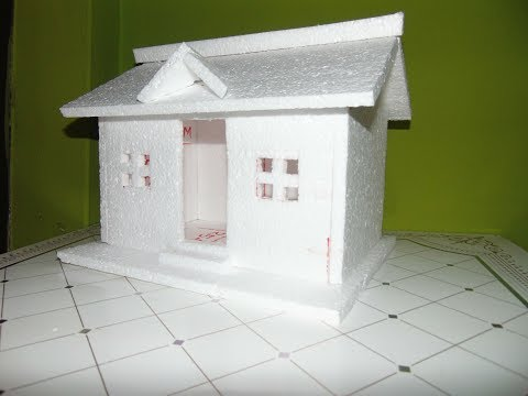 How to Make a Small Thermocol House Model   Easy homemade project for kids