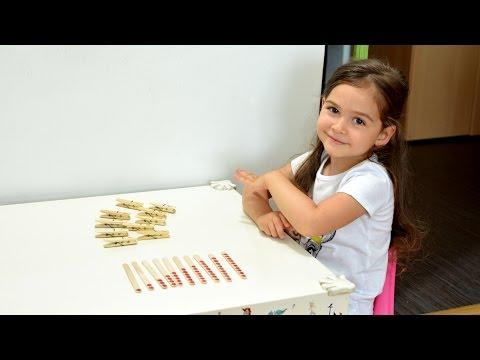 Learn Numbers Popsicle sticks Pegs - fun montessori activities teaching methods kids play games ice