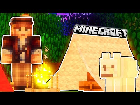CAMPING ADVENTURE IN MINECRAFT | Minecraft Mods (Grizzly Bears, Tents, Fires, Campers)