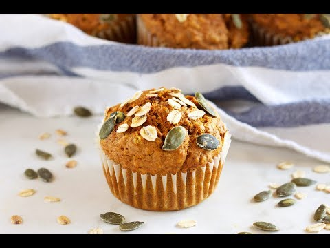 Healthier Pumpkin Oat Muffins Recipe