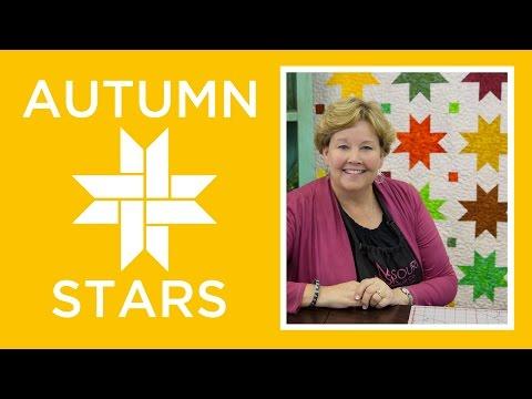 Make an Easy Autumn Sweet Stars Quilt