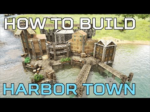 🦄Harbor Town HOW TO BUILD Ragnarok | Ark Survival [NO MODS]