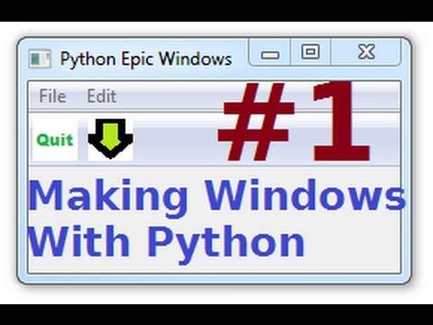 wxPython Tutorials 1: Making Windows GUIs with Python : Installing + 1st window!