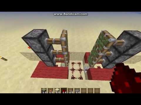 Minecraft Tutorial: 3x2 Piston Door W/ Lock (Optional)