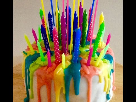 Make this Awesome Melted Candle Cake in 60 seconds!