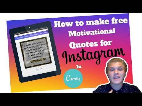 How to Make FREE Motivational Quotes for Instagram | THE DOMINATION FORMAT