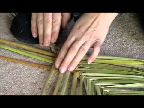 Wahakura weaving step by step part one