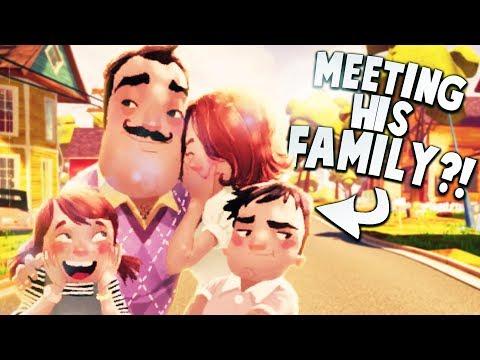 FINALLY MEETING THE NEIGHBOR'S FAMILY! | Hello Neighbor Gameplay