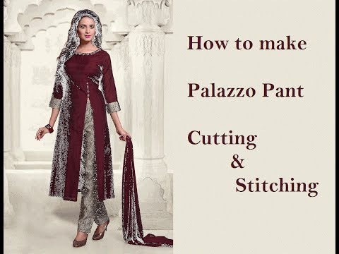 Palazzo pant Cutting & Stitching- Part 2 | sewing tutorials | tailoring ladies