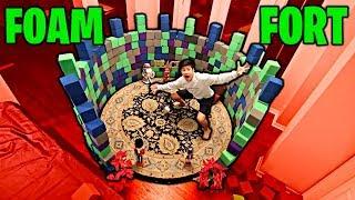 FOAM FORT made of Trampoline Park Foam!