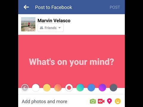 Facebook brings colored backgrounds to statuses