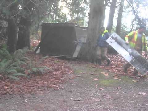 How to Destroy an Outhouse / Salt Spring Island