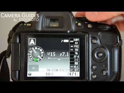 How to set Aperture / f-stop on a Nikon D5100 , D5200, D5300