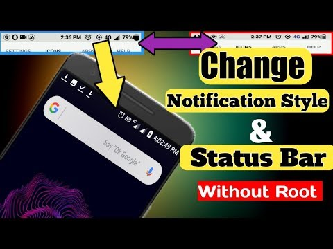 How to change Notification Style and status bar in any android phone or version || without Root
