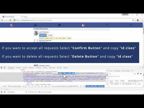 How To Delete or Accept all Facebook Friend Requests At one time