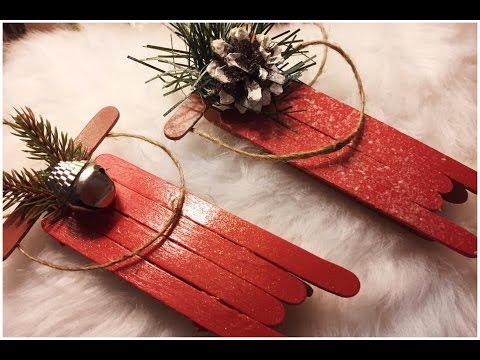D.I.Y'S Mini Christmas Sleigh Ornaments