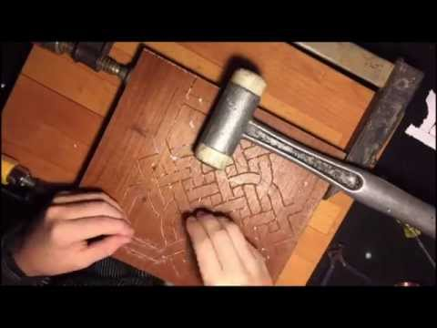 DIY detailed copper wire inlay