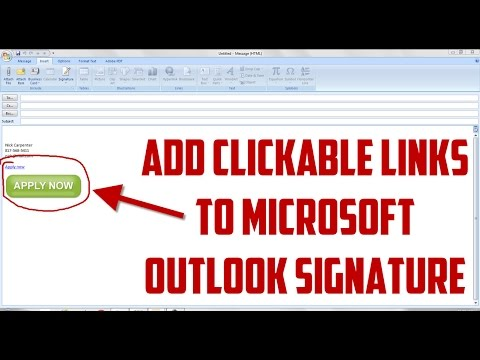 How to Add Clickable Images and Links in Microsoft Outlook Email Signature