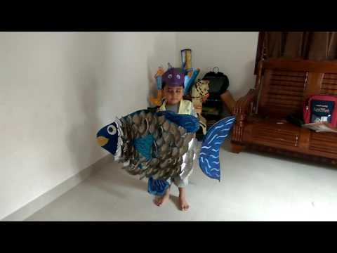 Fancy dress as fish by prathibha