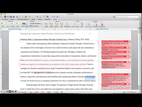 Using Microsoft Word's Track Changes and Insert Comment Functions to Generate Ideas for Revision