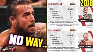 SHOCKING CM Punk & Brock Lesnar Comparison! (2018 Title Reign)