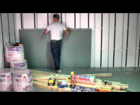 How to install drywall to the InSoFast Panel.