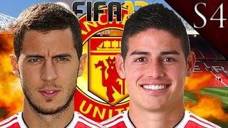 HAZARD, JAMES RODRIGUEZ SIGN! FIFA 17: MANCHESTER UNITED CAREER MODE S4 EP. 3
