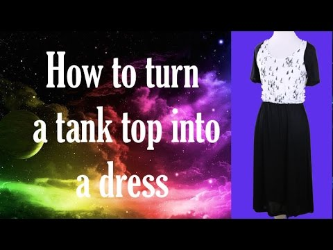 How to Tank to Dress The Rachel Dixon DIY Sewing