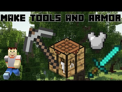 Minecraft | HOW TO MAKE WEAPONS AND TOOLS | Surviving your first night