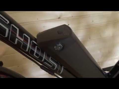 E Bike Battery - Black Rocket eBike Battery 36v 10.4Ah or 12.6Ah - Bottle Mount