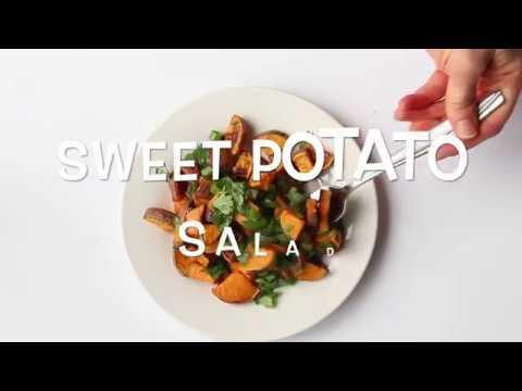 Roasted Sweet Potato Salad with Honey-Lime Vinaigrette