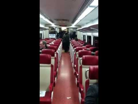 Quick view of inside new Metro North train.